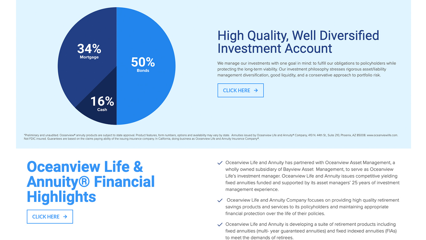 Oceanview Life and Annuity Company | The Creative Momentum - Web Design & Digital Marketing